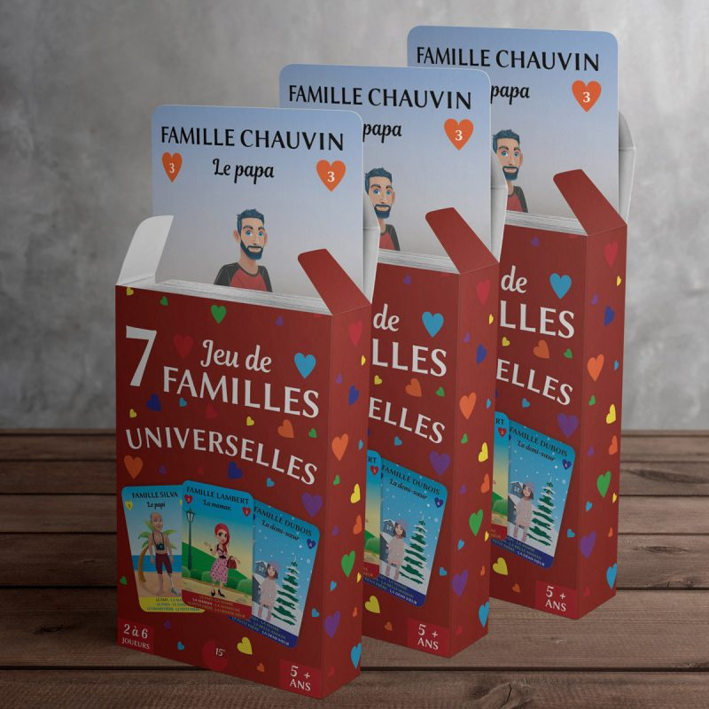 Pack de 3 jeux de 7 familles Universelles