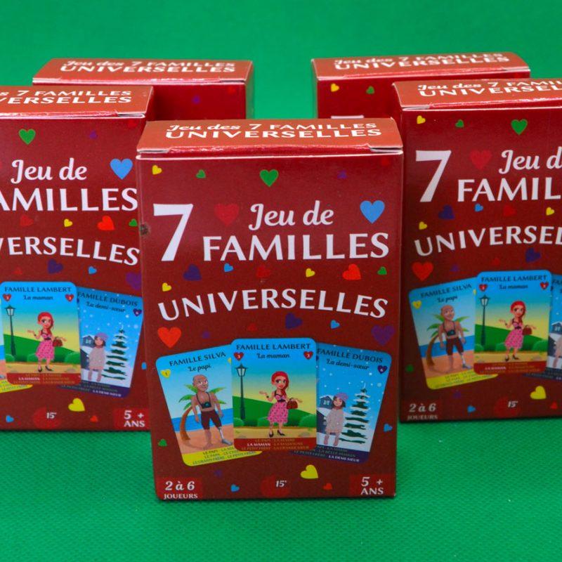 Pack de 5 Jeux de 7 familles Universelles